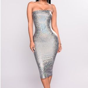 Shimmery body con dress